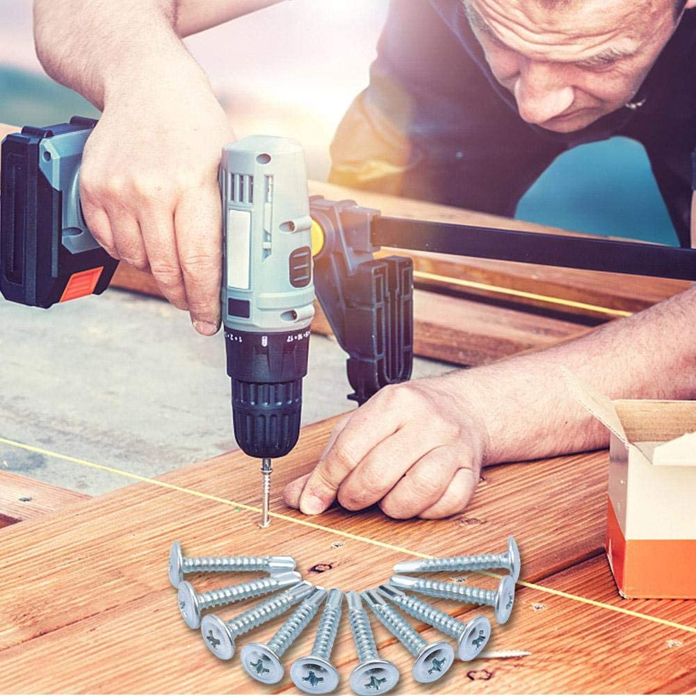 M4.225 50pcs M4.2 Truss Head Self-tapping Screws Zinc Plated Iron Drilling Tail Screw Set