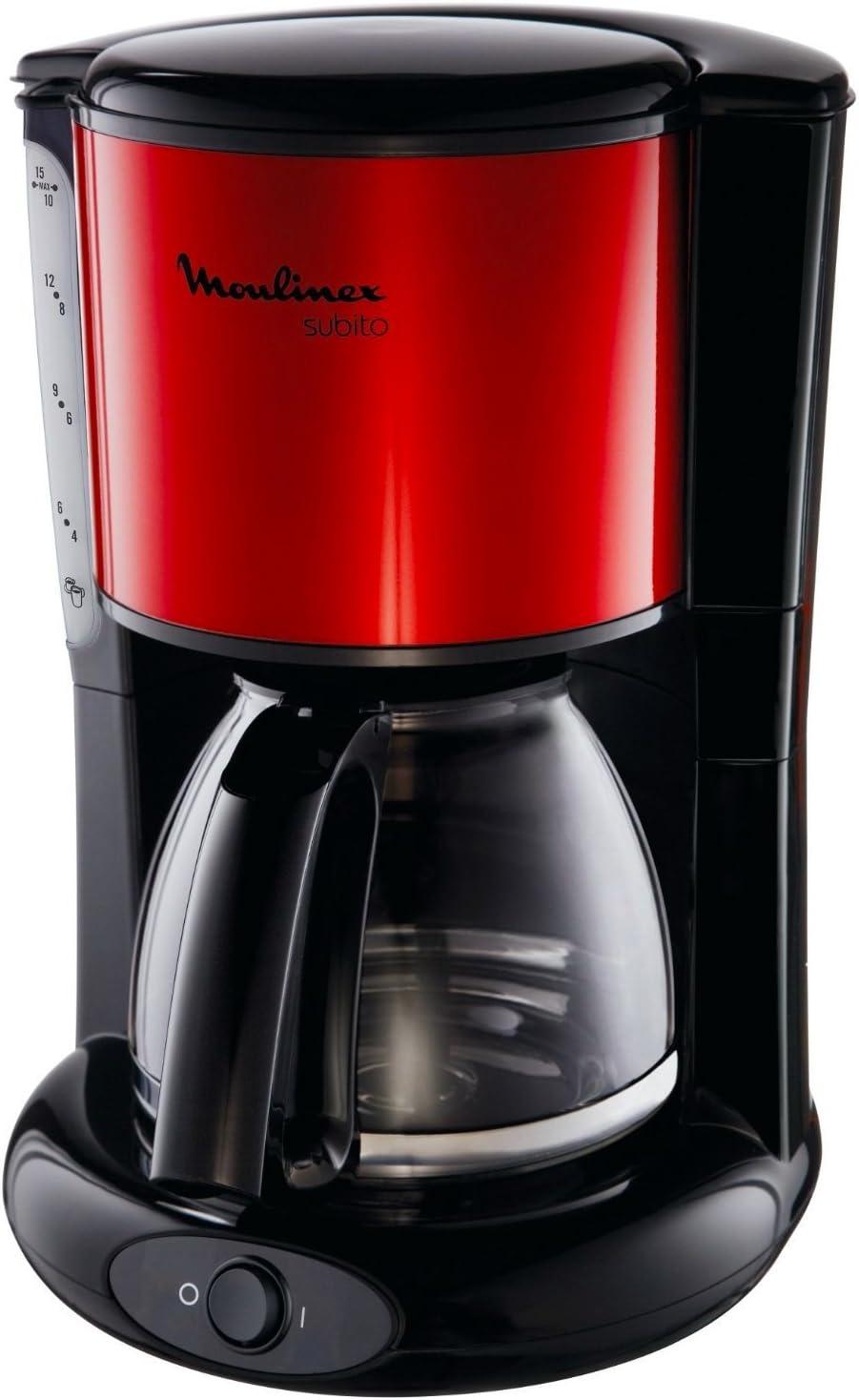 Moulinex FG360D Subito - Cafetera de goteo (de 10 a 15 tazas, 1,25 ...