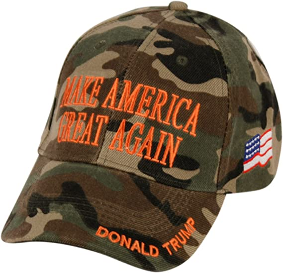 Embroidered Make America Great Again Donald Trump 45 White Red Green Camo Hat