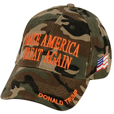 2d33d38d6a5 Amazon.com  Donald Trump Make America Great Again Hats Embroidered  (Camouflage Green)  Clothing