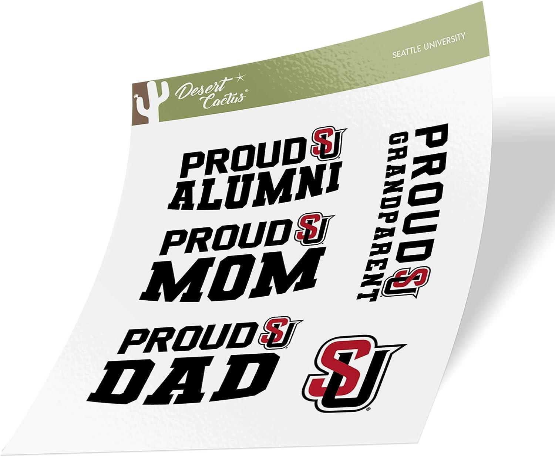 Family Full Sheet Seattle University Redhawks NCAA Sticker Vinyl Decal Laptop Water Bottle Car Scrapbook