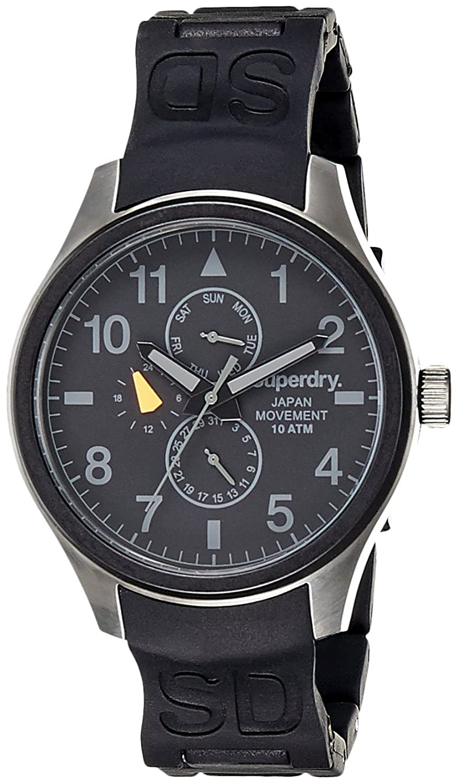 Superdry Herren-Armbanduhr XL Analog Quarz Silikon SYG110B