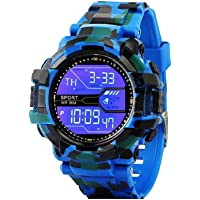 Driton Digital Multicolor Dial Sports Water Resistance Watch for Boy's & Men's