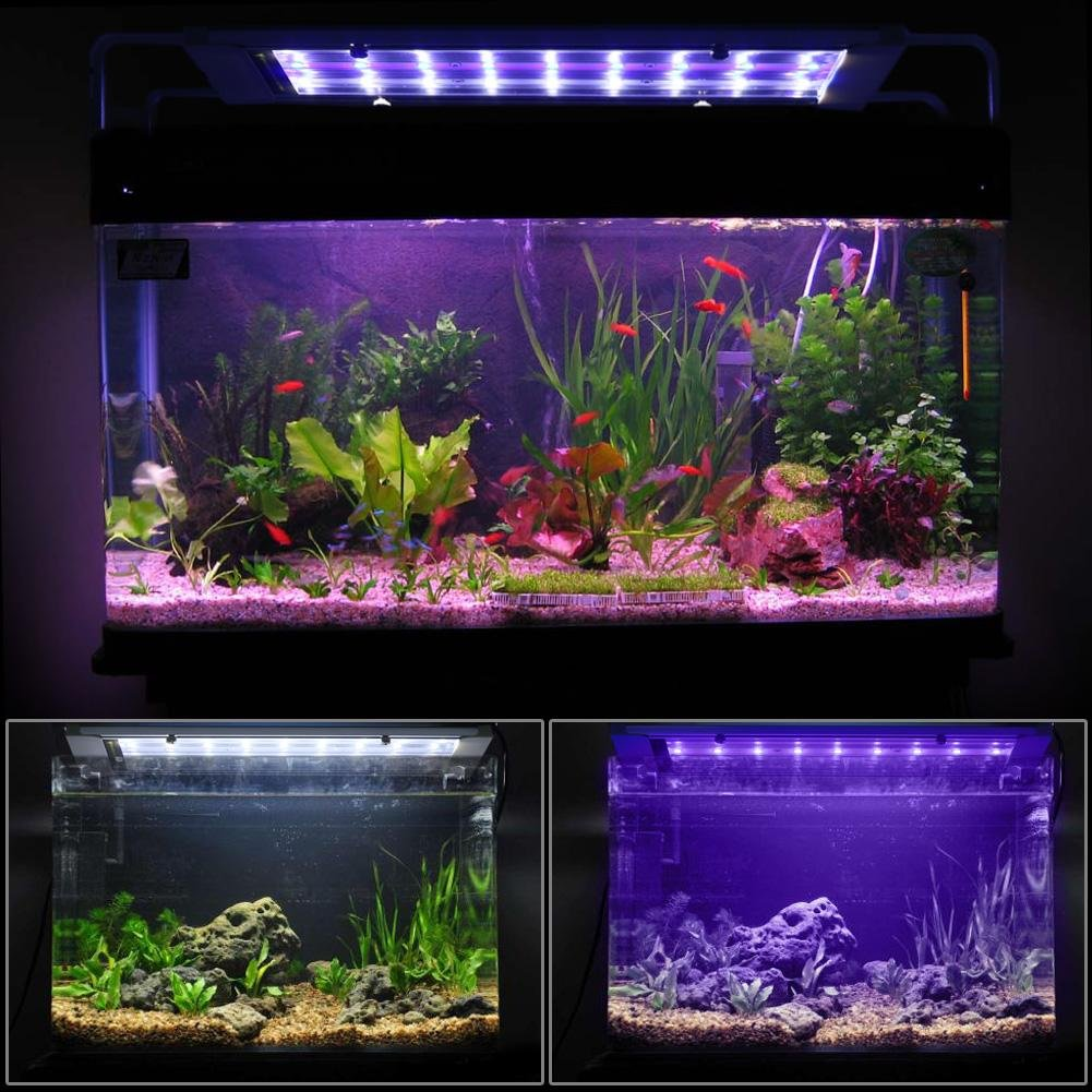 27LED Jocestyle Aquarium LED Light, AC 110-240V Ultrathin Retractable SMD 27LED Fish Tank Lamp Aquarium Light