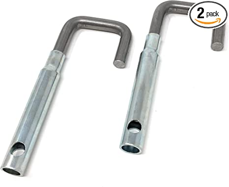 2 Pack Adjustable J Hook Hanger Bracket for Exhaust Systems