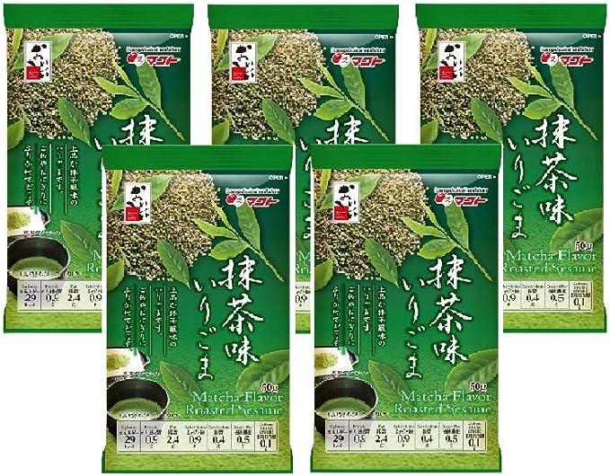 マコト 抹茶味 いり胡麻 50g ×10個
