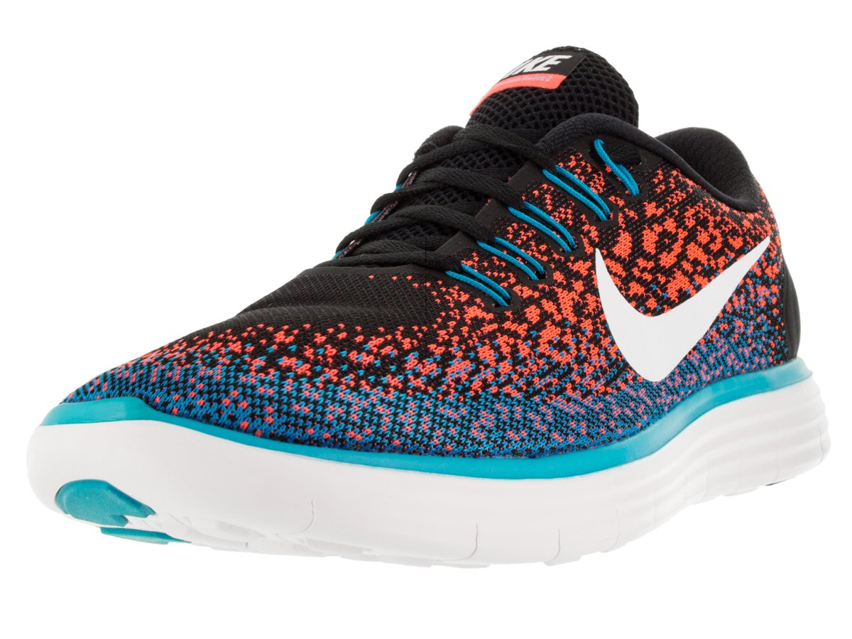 NIKE Men's Free RN Running Shoe B01BPKD1J0 10 D(M) US|Black / White-hyper Orange-blue Lagoon