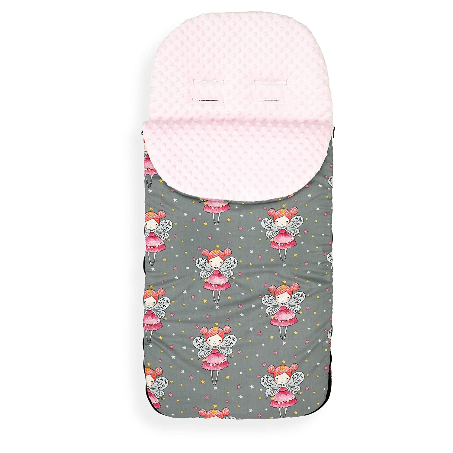 Cotton Zoo//Mint Minky Universal Baby Stroller cosytoes Liner Buggy Luxury Padded Footmuff