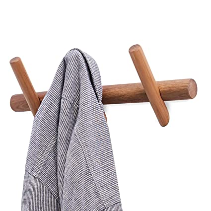 YOYAI perchero de pared de madera para colgar sombreros ...