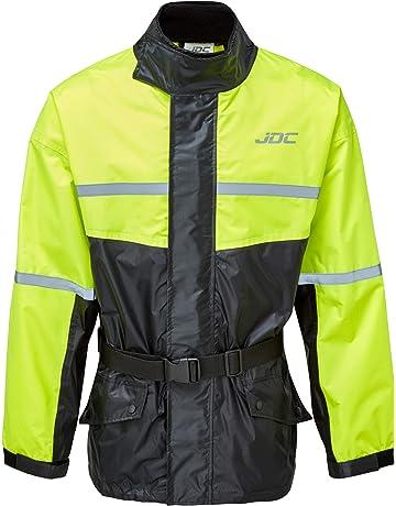 945a8a059e26d JDC Chaqueta De Lluvia Para Moto Impermeable De Alta Visibilidad - SHIELD -  Amarillo Negro