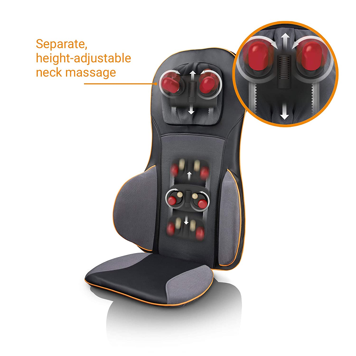 Massageumfang der Medisana MC 825 Shiatsu Massagematte