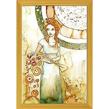 ArtzFolio Beautiful Romantic And Pensive Girl - PREMIUM PAPER POSTER ...