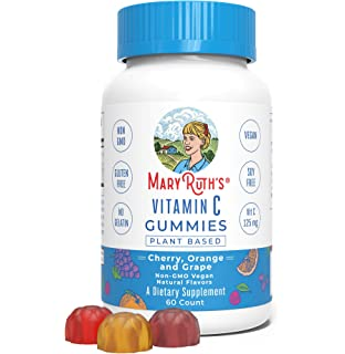 Vegan Vitamin C Gummies (Plant-Based) by MaryRuths Antioxidant Non-GMO Vegan