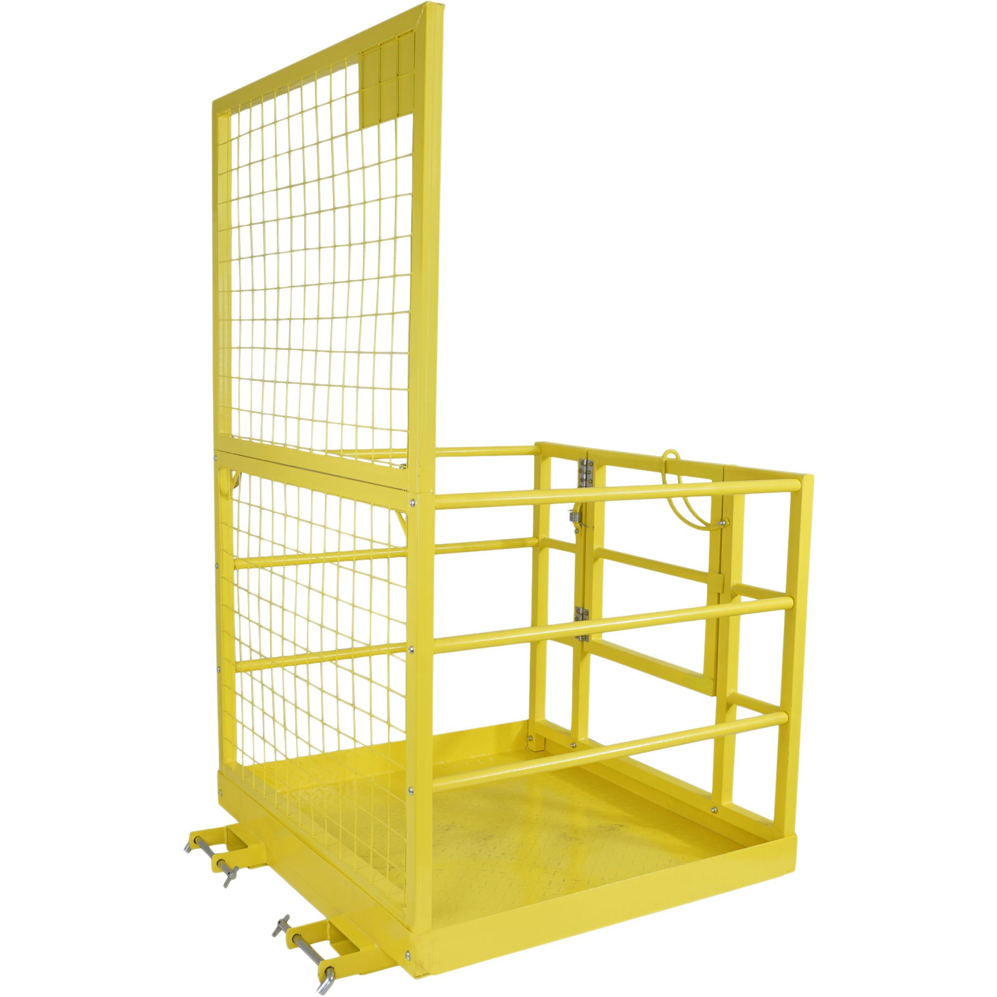 Forklift Safety Cage Work Platform Lift Basket Aerial Fence Rails Yellow 2 man by Titan Attachments (Image #3)