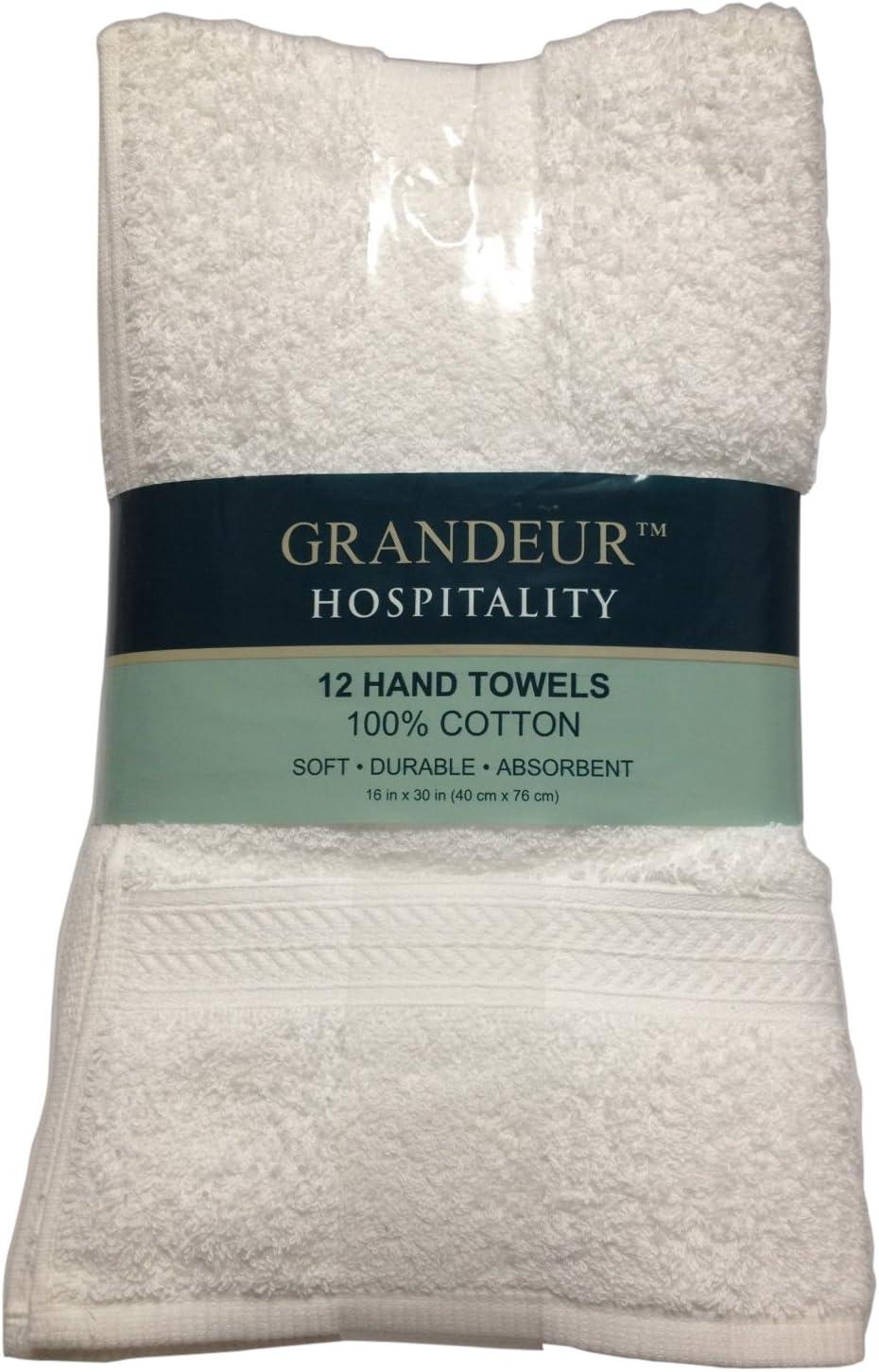Washcloth 24-piece 100/% Cotton Grandeur Hospitality Towels