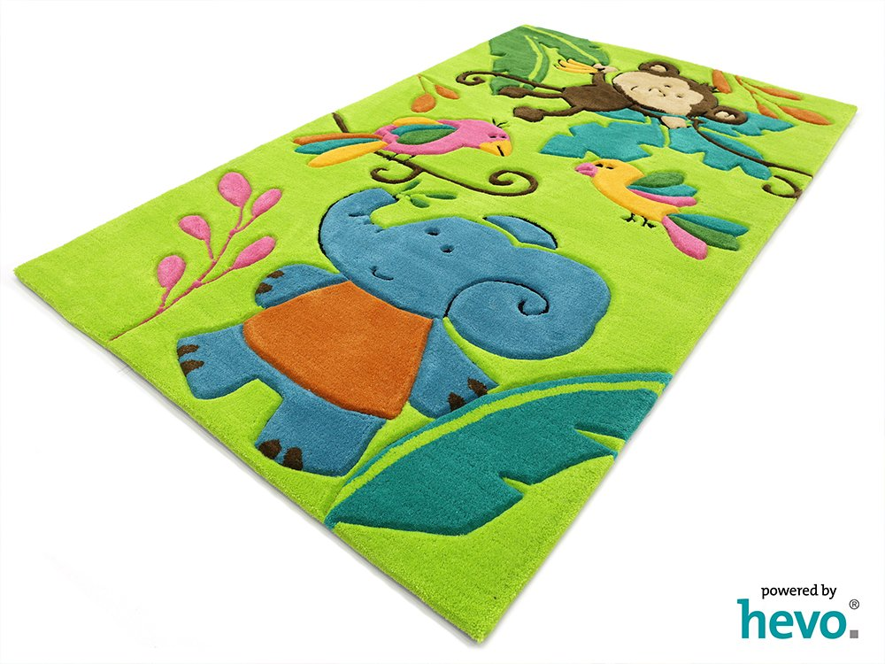 Bernadette Handtuft HEVO® Kinderteppich   Spielteppich limette 150x220 cm Öko Tex 100