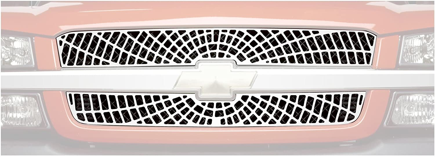 Putco 400523-BLK Chrome Trim Grille Cover