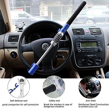 Lc Prime Lenkradschloss Pkw Kfz Auto Diebstahlsicherung Lenkradsperre Kralle Für Das Lenkrad Lkw Wegfahrsperre Auto