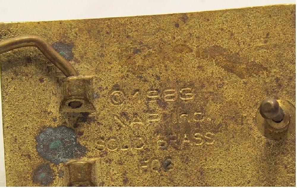 INC Oriental Enameled Green Dragon Breathing Fire Solid Brass Belt Buckle Vintage Rare NAP