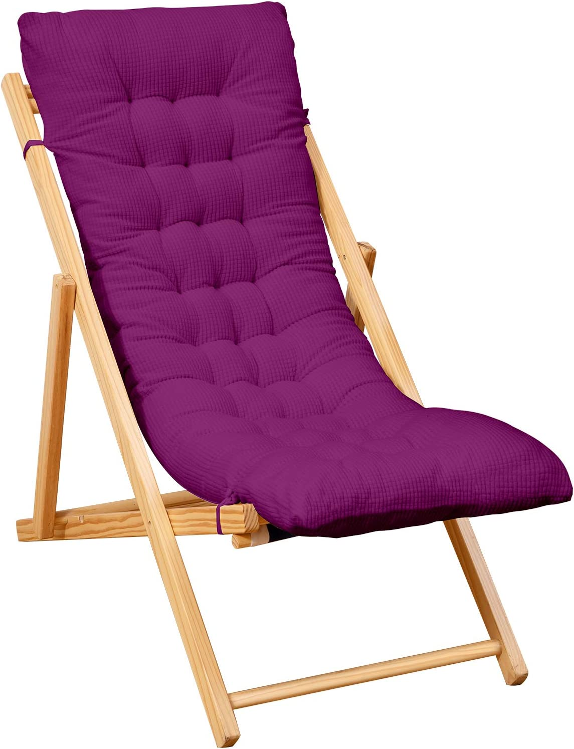 Yimeis Rocking Chair Cushions Pads, Indoor Zero Gravity Swing Long Bench Chaise Recliner Cushions for Lounge Chairs, Outdoor Patio Lawn Lounge Bench Chair Cushions for Outdoor Furniture (Purple)
