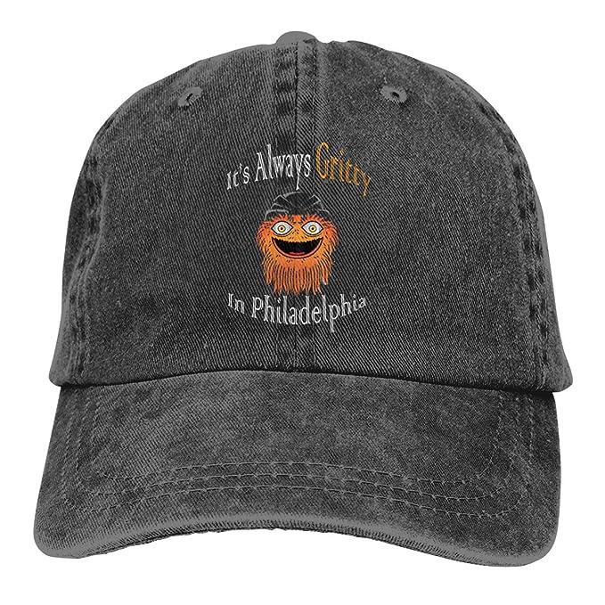 af8e237a6e3205 Its Always Gritty in Philadelphia Washed Denim Hat Unisex Dad Baseball Cap