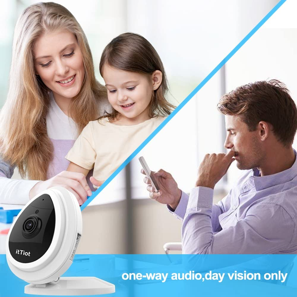 White /¡/ WiFi Security 720P Home IP Camera for Pet Monitor with Built-in Microphone Day Vision Only itTiot Wireless IP Camera One Way Audio