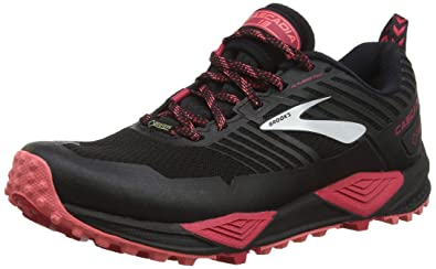 3545d91948626 Brooks Women s Cascadia 13 GTX Black Pink Coral 6 B US B (M