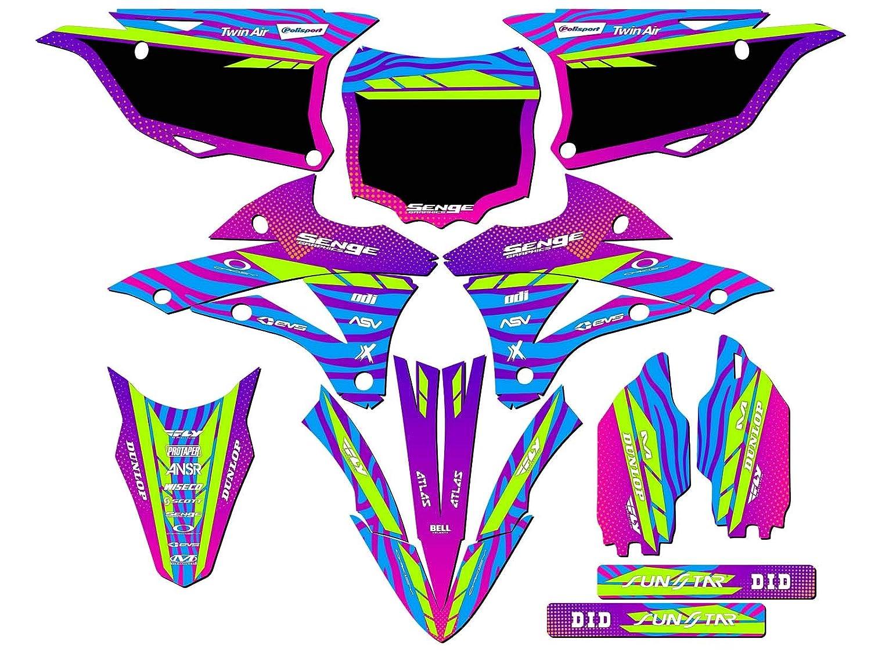 Tigre Green Complete CUSTOM Senge Graphics Kit 2014-2019 KX 85//100 Compatible with Kawasaki