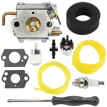 amazon com hilom wt 827 carburetor with screwdriver air fuelhilom wt 827 carburetor with screwdriver air fuel filter for mtd bolens trimmer bl100 bl150