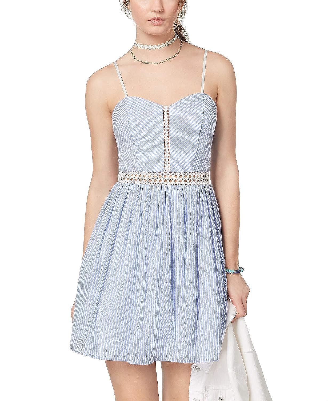 Denim White City Studios Juniors' Striped IllusionCrochet Dress