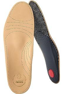 biped Premium Fußbett aus pflanzlich gegerbtem Leder - mit Pelotte -  Mittelfußstütze - Fersenpolster und Aktivkohle c2c864f01e