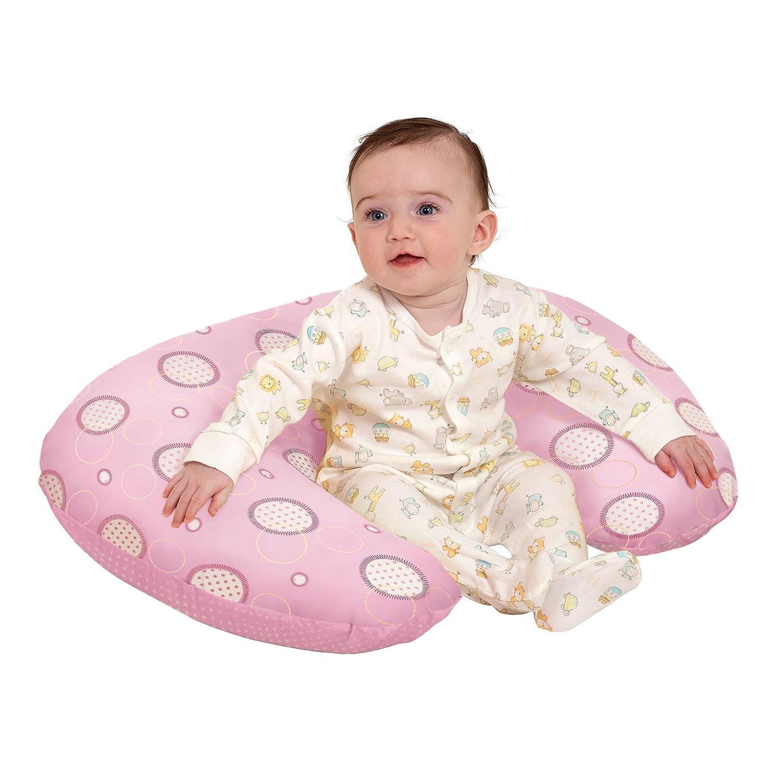 Clevamama Coj/ín de Lactancia 10 en 1 Rosa Coj/ín para Embarazo y Alimentaci/ón de Beb/és con Espuma Transpirable