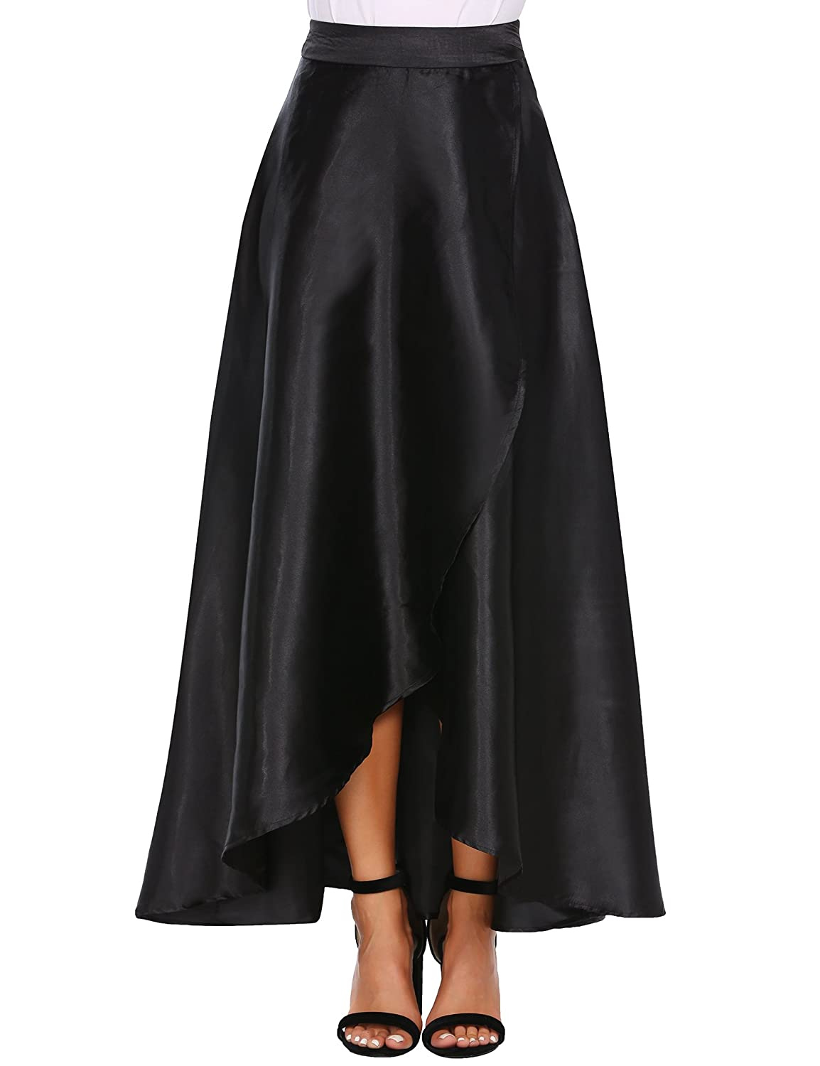 430f7edd0b No elasticity in the waist. IRREGULAR MAXI SKIRT WITH BIG SWING--- Crafted  from high qaulity fabric, it languidly cascades from the silk-satin ...