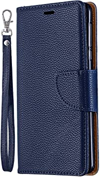iPhone 7 Flip Case Cover for Leather Cell Phone Cover Kickstand Card Holders Extra-Shockproof Business Flip Cover