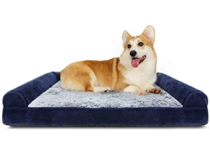 Fantastic Dog Bed Orthopedic Pet Bed 39 X 27 Inches Dog Sofa Beds For Medium Large Dogs Deluxe Plush Faux Fur Dog Couch With Washable Cover Dog Pillows Bed Ncnpc Chair Design For Home Ncnpcorg