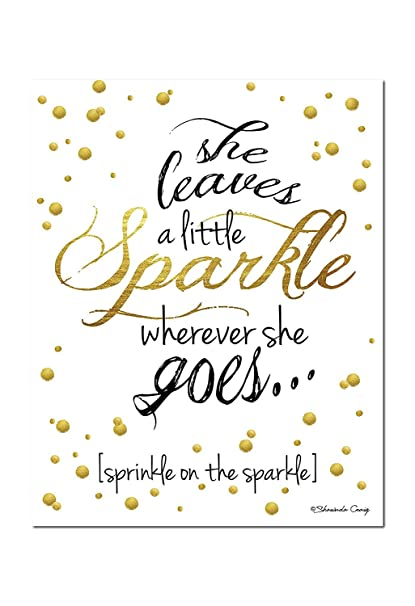 photo regarding She Leaves a Little Sparkle Wherever She Goes Free Printable identify : Lovable Gold, Black and White \