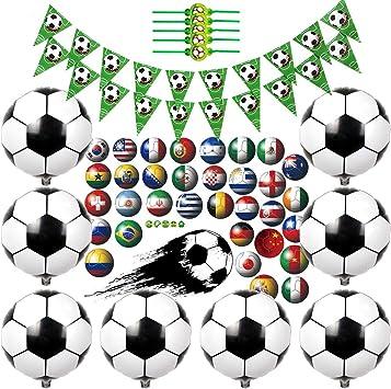Kreatwow Decoraciones para Fiestas de fútbol Suministros para ...
