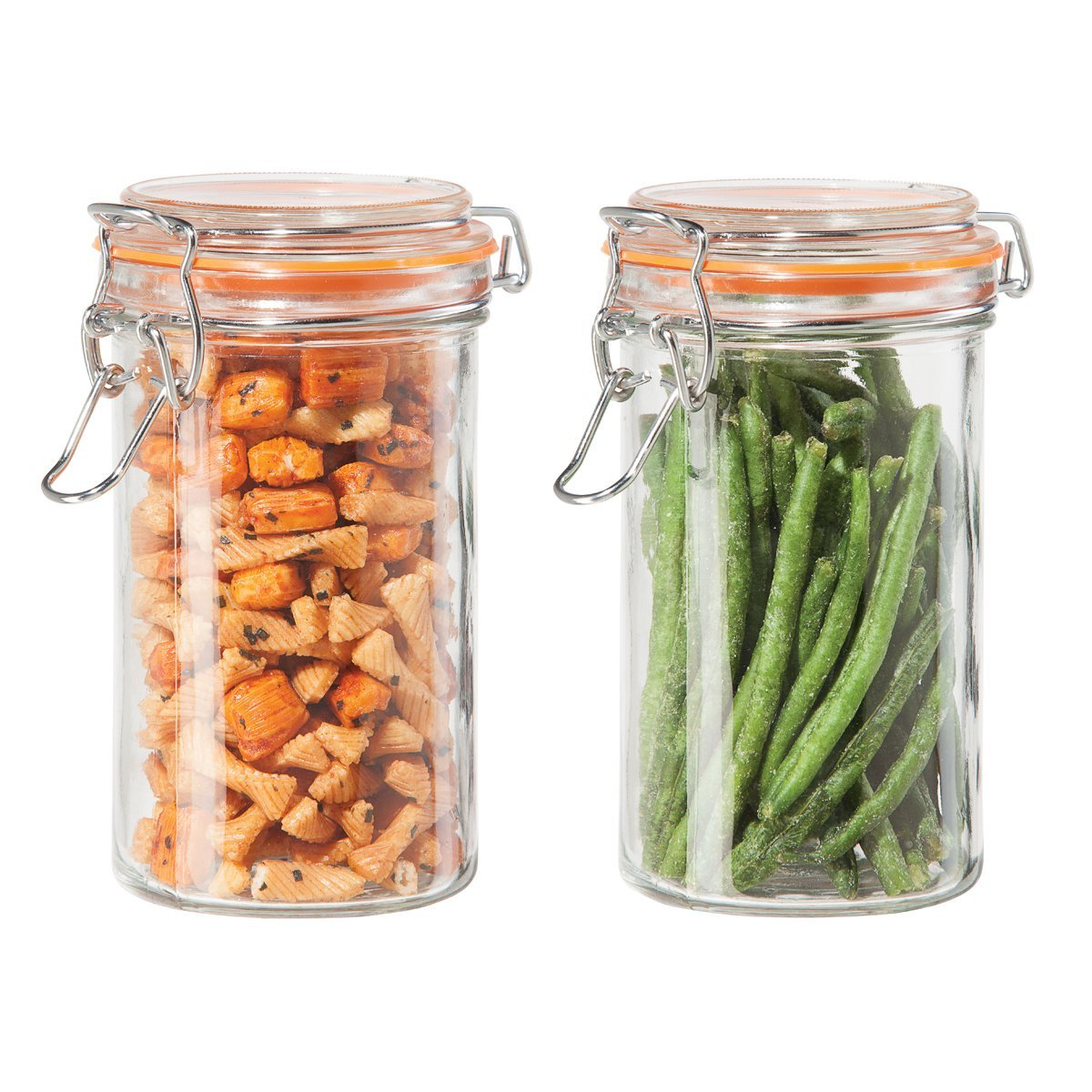Oggi Airtight Glass 17 Ounce 2 Piece Canister Set 6312