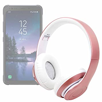 DURAGADGET Auriculares plegables inalámbricos bluetooth en color rosa para Smartphone Huawei Honor 7X, Huawei Honor View 10/Samsung Galaxy S8 Active: ...