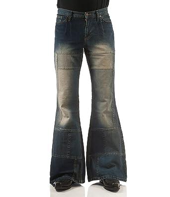 Comycom Patchwork Jeans Schlaghose Star Spirit Dirty Denim  Amazon.de   Bekleidung 844a98eda4