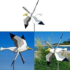 Whirligig Asuka Series Windmill-Seagull Whirligig/whirly Bird Garden Spinner Lawn Decoration,Handmade Asuka Windmill (2pcs Asuka Windmill)