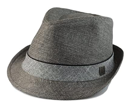Hatter Big size Mens Classic Fedora Short Brim Trilby Hat XL(60cm ... e4f36112d17