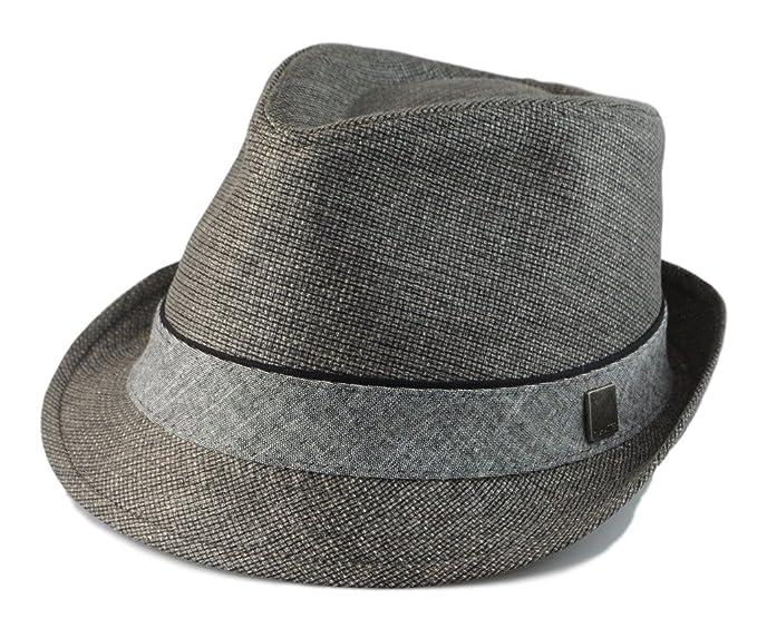 a1ecd266c55 Hatter Big size Mens Classic Fedora Short Brim Trilby Hat XL(60cm ...