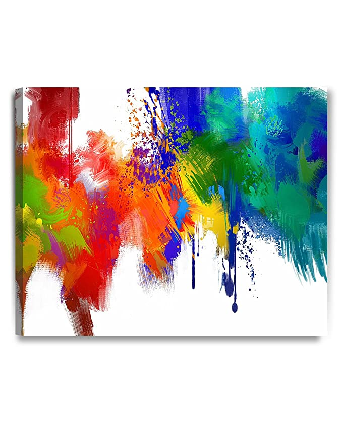DECORARTS - Colorful Paint Abstract Wall Art, Giclee Prints Abstract Modern  Canvas Wall Art for Home Decor and Wall Decor  30x24 x1 5