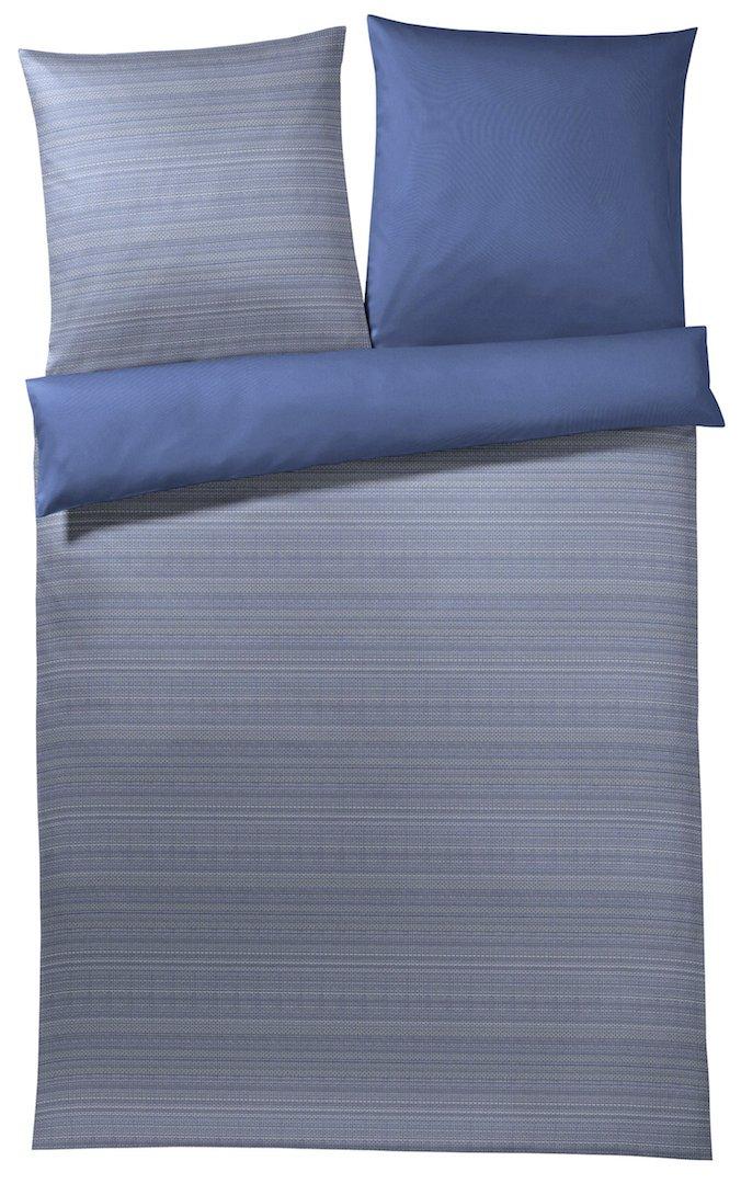 Joop  Bettwäsche Woven   2 deep Blau - 135 x 200 cm