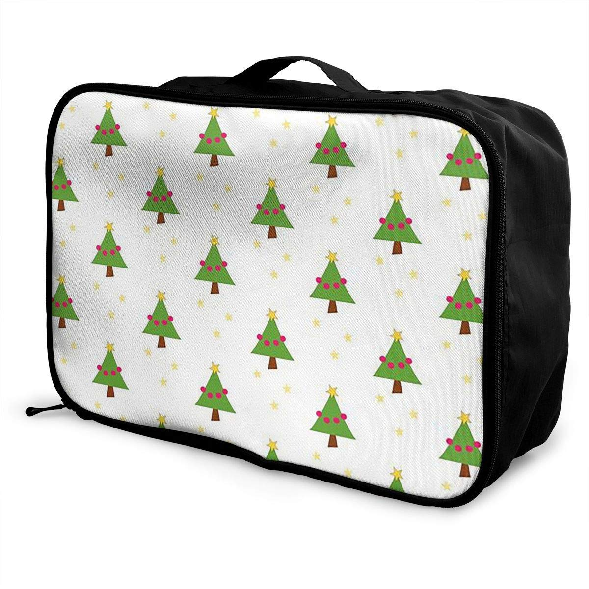 Portable Luggage Duffel Bag Merry Christmas Travel Bags Carry-on In Trolley Handle