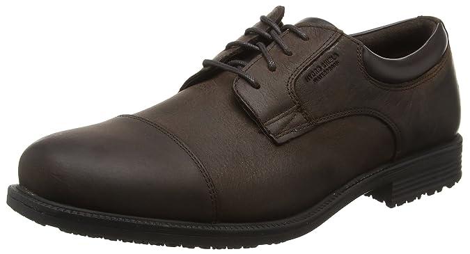 Rockport Essential Details Waterproof Cap Toe - Zapatos Hombre, Marrón - Braun (DK Brown), 42