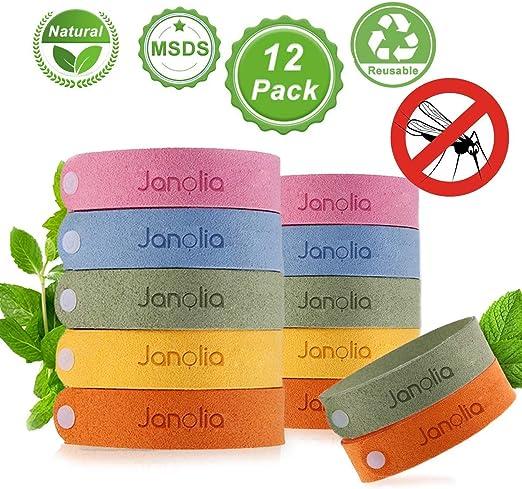Amazon Com Janolia 12 Pcs Natural Citronella Bracelet Deet Free