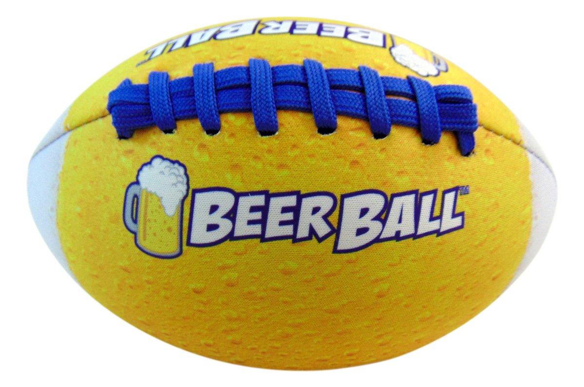 Spring Break Beer Football Soft Neoprene Inflated Ball for Beach or Backyard