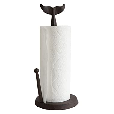 Creative Co-Op Cast Iron Whale Tail Paper Towel Holder